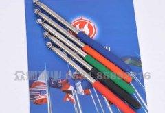 导游伸缩杆 旗杆 不锈钢塑胶把伸缩1.2米导游杆