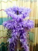高档紫色羽毛鳞片斗篷披风绶带定制出口