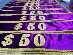 高档紫色选美绶带 旗帜制作